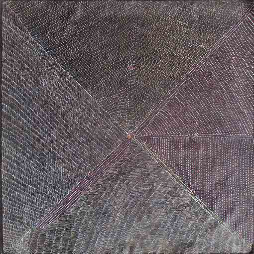 Click to Enlarge: Gracie Morton Pwerle, Cat. No. GM0608-6, Acrylic on Belgian Linen, 122 x 125 cm