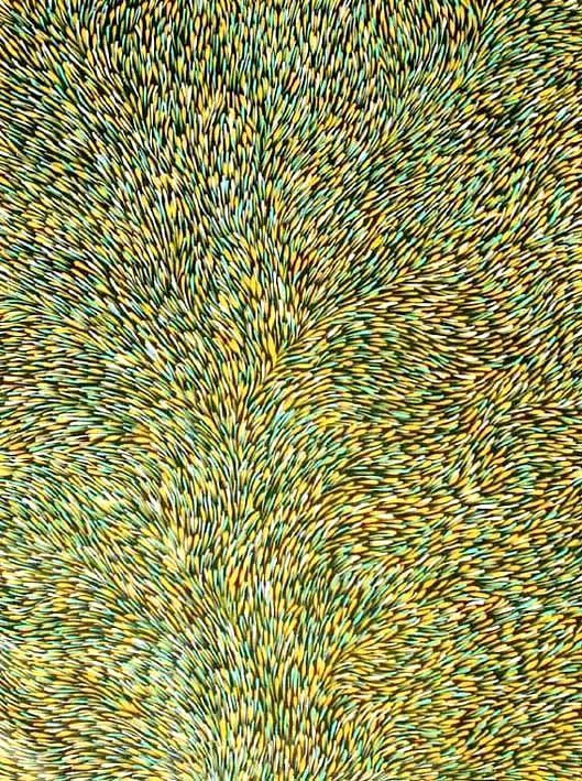 Gloria Petyarre, Bush Medicine Cat. no. MB029505, Synthetic polymer paint on Belgian linen, Image Size: 122 cm x 93 cm