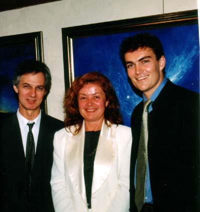 PHOTO: Jamie Boyd (left), Aniela Kos (centre), Cameron O'Reilly (right) - CLICK Video: ABC TV Australian National TV 'Sunday Afternoon' Best of Boyd Exhibition, 1997