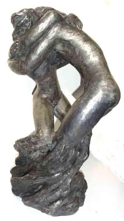 Lenore Boyd, Lovers turning into a Tree, silver on bronze, 62 cm
